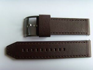 Fossil Original Spare Leather Strap ME1122 Watch Band Strap Braun Brown 24 MM
