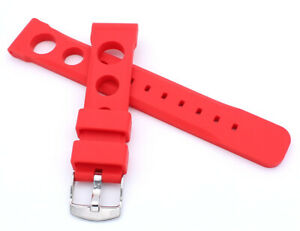 RALLYE Style SILICONE RUBBER WATCH STRAP SPORT DIVER 18 20 22 24mm
