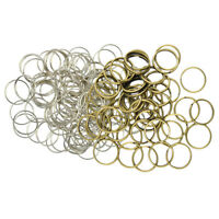 150pcs Metal Loop Rings Double Split Key Rings Clasp Connecter 1.2 x 12mm//18mm
