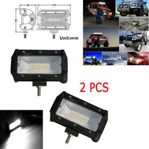 "2PCS 12V 24V 5"" 168W Flood LED Car Off Road Work Light Bar Fog Driving DRL Lamp"