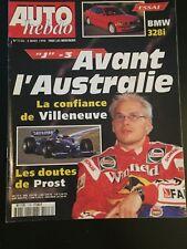 MAGAZINE AUTO HEBDO N°1126 4/03/1998 GP AUSTRALIE VILLENEUVE PROST BMW 328i AUDI