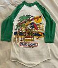Vtg Spuds Mackenzie Beer Baseball T-Shirt Party Animal Bud Light Budweiser 80s