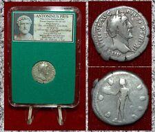 Roman Empire Coin ANTONINUS PIUS Genius Super Portrait Obverse Silver Denarius