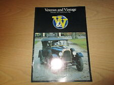 February 1977, VETERAN & VINTAGE, Fiat Tipo 505, Sizaire Berwick, Lanchester.