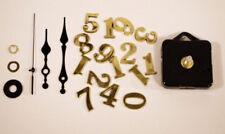 Mécanisme Canon Long 18.5 mm + Chiifre Or + Aiguilles  Pendule Horloge Cadran
