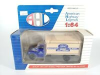 AMERICAN HIGHWAY LEGENDS AHL GENUINE FORD PARTS FORD F 5 BOX TRUCK 1/64 DIECAST