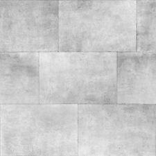 Muriva Metallic Silver Brick Industrial Chic Feature Wallpaper 141202