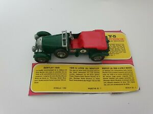MATCHBOX Y5 - 1929 4 1/2 LITRE (S)BENTLEY  MODELS OF YESTERYEAR LESNEY ENGLAND