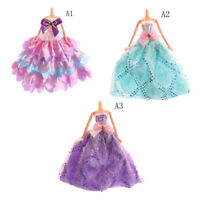 Handmade Elegant Floral Doll Clothes Wedding Dress For Doll Party Gown OJ
