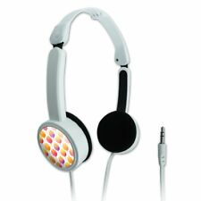 Watercolor Tulip Pattern Novelty Travel Portable On-Ear Foldable Headphones