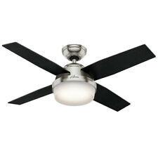 "Hunter Dempsey 44 LED 44"" Dempsey 4 Blade LED Indoor Ceiling Fan - Nickel"