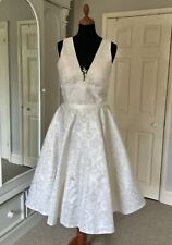 Couture Wedding Dress by Kathryn Trueman, Cecilia, Ivory/Gold, Size UK 12