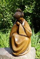 wunderschöne Achatit Figur traurige Japanerin 26 cm wertvolle Künstlerarbeit