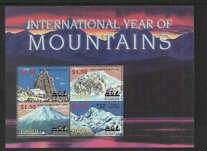 2002 Year of The Mountains Sheetlet Complete MUH/MNH as issued
