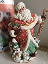 Rare Fitz and Floyd Exclusive Father Noel Santa Claus Large Figure Original box