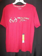 REALTREE XTRA HUNTING Cardinal Red Wicking T shirt Men's Size XL