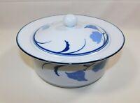 DANSK Tivoli Belles Fleurs Blue and White Covered Casserole Dish 2 Quart