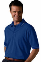 Edwards Garment Men's Short Sleeve Fade Wrinkle Resist Sporty Polo Shirt. 1510
