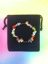 Gemstone Bracelet Chakra Crystal Chip Beads Stretch Meditation Healing