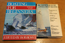 BOATING FOR BEGINNERS + SMALL BOAT RACING TECHNIQUES 2 BOOKS HC GC