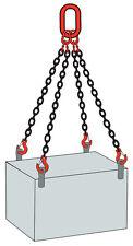 4.2 TONNE 4LEG LIFTING CHAIN 6MTR C/W GRAB SHORTENERS & LATCH HOOKS