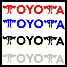 2 X Toyota Vinyl Car Stickers Decals Funny Custom Fit to Body Glass & Door