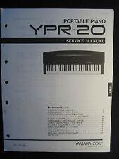 Yamaha Portable Piano YPR-20 Service Repair Manual Schematics Parts List YPR-20