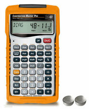 Calculated Construction Master Pro Calculator 4065 w/Case & Spare LR44 Batteries
