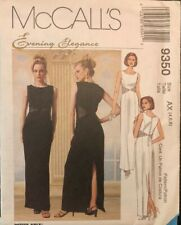 McCall's 9350 Evening Elegance Dress Pattern Size 4,6,8 Factory Fold Uncut