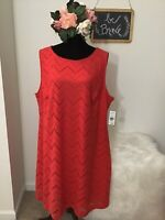 Jessica Howard Women's Dress Red Size 22w Plus Sheath Lace Sleeveless