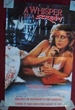 A Whisper to a Scream Home Video Movie Poster (1989) ~ Nadia Capone Yaphet Kotto