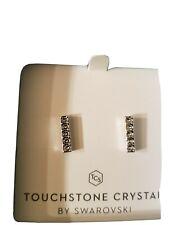 Touchstone crystal swarovski Pave Bar earrings