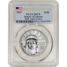 New Listing2017 American Platinum Eagle (1 oz) $100 - Pcgs Ms70 - First Day Issue