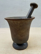 Antique Heavy Cast Iron Mortar and Pestle Set  $ 750.00