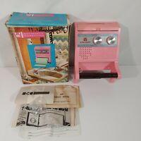 Vintage Electronic Rest Room Bathroom Toilet Radio Pink Works