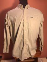 Chaps By Ralph Lauren Men's Large Long Sleeve Cotton Button Front Shirt