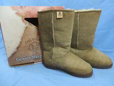 Old Friend Genuine Sheepskin Boots L9  Tan Beige New