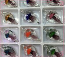 Wholesale Lots 24Pcs Flower Mushroom Lampwork Murano Glass Pendant Fit Necklace