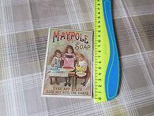 Vintage Original  MAYPOLE Soap JT Lucas Grocer CONGLETON  Advertising Leaflet