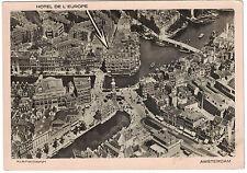 Real Photo Postcard RPPC Hotel De L'Europe, Amsterdam Early 1900s-unused - Nice!