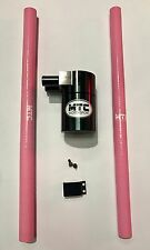 MTC MOTORSPORT OIL CATCH CAN TANK BILLET STEEL RESERVOIR UNIVERSAL 18MM PINK VXR