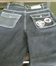 Wide Leg Jeans Size 14 Boys/girl ROCA black faded