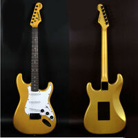 Gold+White New Professional High-Grade Basswood 22 Frets Electric Guitar #