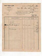 fattura antica - SINDACATO AGRICOLO DI TORINO ALESSANDRIA 1890