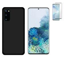 Funda Samsung Galaxy S20 Negra TPU GEL SILICONA + PROTECTOR CRISTAL COMPLETO 3D
