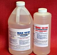 CRYSTAL CLEAR EPOXY RESIN 4 BAR TOP THICK COATING CASTING & FIBERGLASSING 96oz!
