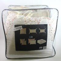 Lacourte  Printemps Reversible 8 PC CAL KING Comforter Set Pastel Pink F674