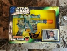Heavy Blaster Electronic 1997 STAR WARS POTF Power of the Force GREEN MIB NEW
