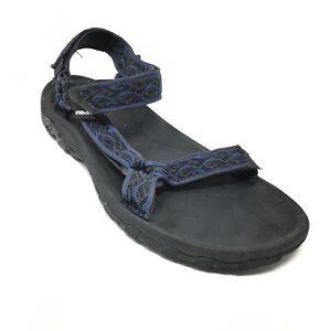 Men's Teva Hurricane XLT Hiking Sandals Shoes Size 12 US/45.5 EU Black Blue AI7