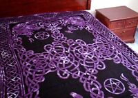 Celtic God Bedspread, Purple: Tapestry, Wall Hanging or Altar Cloth! 72 x 108